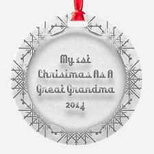 1St Christmas As A Great Grandma 2014 Ornament