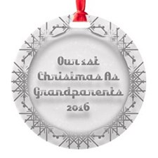 1St Christmas As Grandparents 2016 Ornament