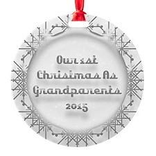 1St Christmas As Grandparents 2015 Ornament