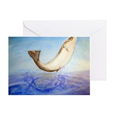Atlantic Salmon Splash Greeting Card