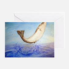 Atlantic Salmon Splash Greeting Card