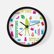 Fashion chic shopping design Wall Clock