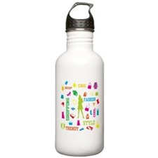 Fashion chic shopping design Water Bottle