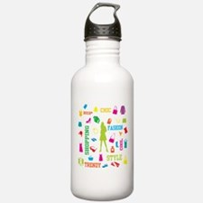 Fashion chic shopping design Water Bottle