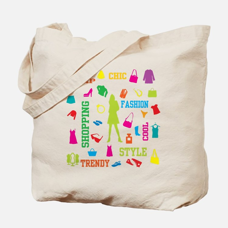 Fashion chic shopping design Tote Bag