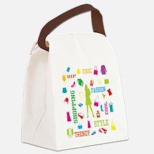 Fashion chic shopping design Canvas Lunch Bag