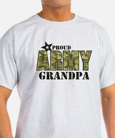 Camo Proud Army Grandpa T-Shirt