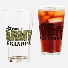 Camo Proud Army Grandpa Drinking Glass