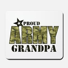 Camo Proud Army Grandpa Mousepad