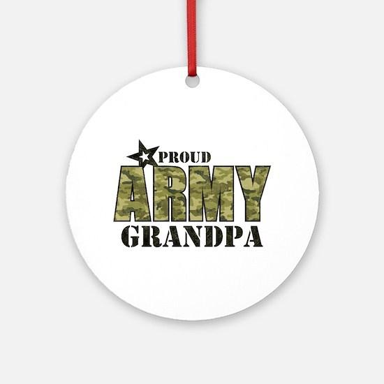 Camo Proud Army Grandpa Ornament (Round)