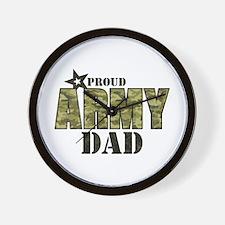 Camo Proud Army Dad Wall Clock