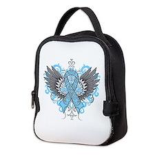 Thyroid Disease Wings Neoprene Lunch Bag