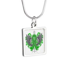 TBI Wings Silver Square Necklace