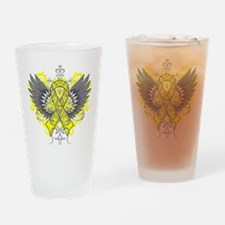 Suicide Prevention Wings Drinking Glass