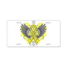 Suicide Prevention Wings Aluminum License Plate