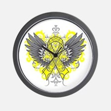 Suicide Prevention Wings Wall Clock