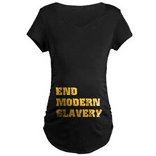 End Modern Slavery Dark Maternity T-Shirt