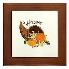 Welcome Framed Tile