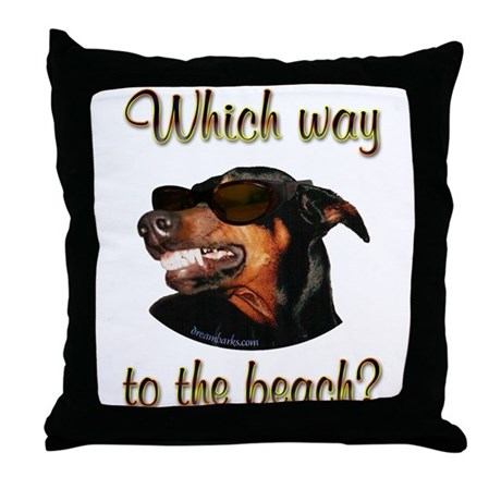 Beach Dobe Throw Pillow