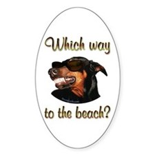 Beach Dobe Oval Decal
