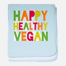 Happy Vegan baby blanket