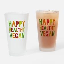 Happy Vegan Drinking Glass