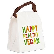 Happy Vegan Canvas Lunch Bag