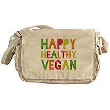 Happy Vegan Messenger Bag