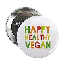 "Happy Vegan 2.25"" Button"