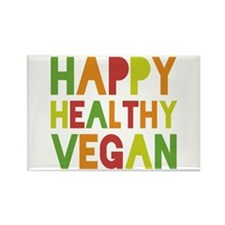 Happy Vegan Rectangle Magnet (100 pack)