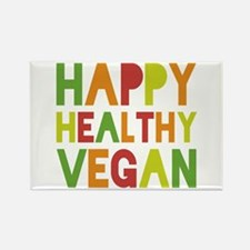 Happy Vegan Rectangle Magnet