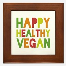 Happy Vegan Framed Tile