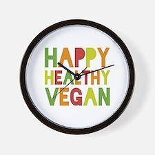 Happy Vegan Wall Clock