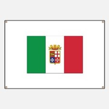 Italian Naval Ensign Flag Banner