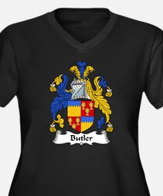 Butler Women's Plus Size V-Neck Dark T-Shirt