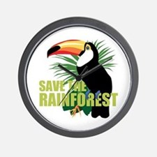 Save The Rainforest Wall Clock