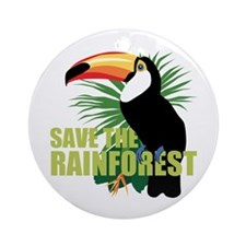 Save The Rainforest Ornament (Round)