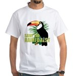 Save The Rainforest White T-Shirt
