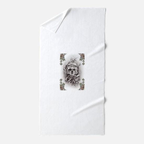 skull-tattoo-art Beach Towel