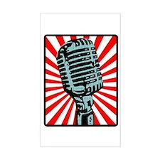 Retro Microphone Decal