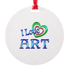 I Love Art Ornament