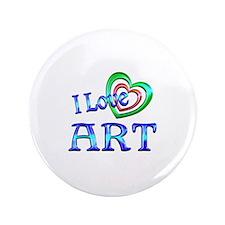 "I Love Art 3.5"" Button (100 pack)"