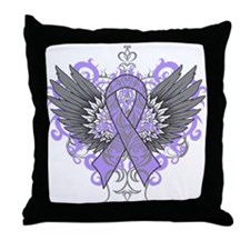 Rett Syndrome Wings Throw Pillow