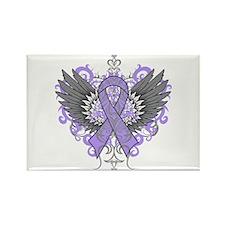 Rett Syndrome Wings Rectangle Magnet