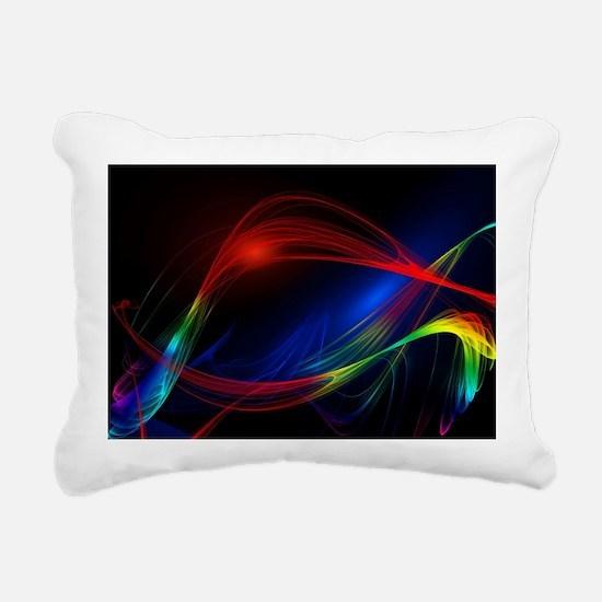 Abstract Lines Art Rectangular Canvas Pillow