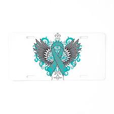 PKD Wings Aluminum License Plate