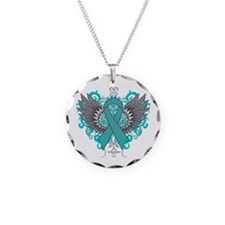 Myasthenia Gravis Wings Necklace Circle Charm