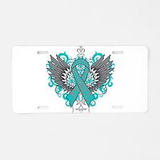 Myasthenia Gravis Wings Aluminum License Plate