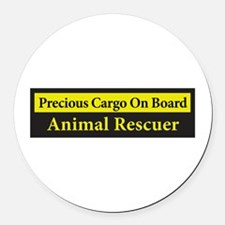 Cute Animal rescue Round Car Magnet