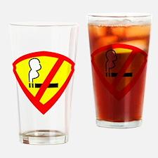 Super anti smoking hero Drinking Glass